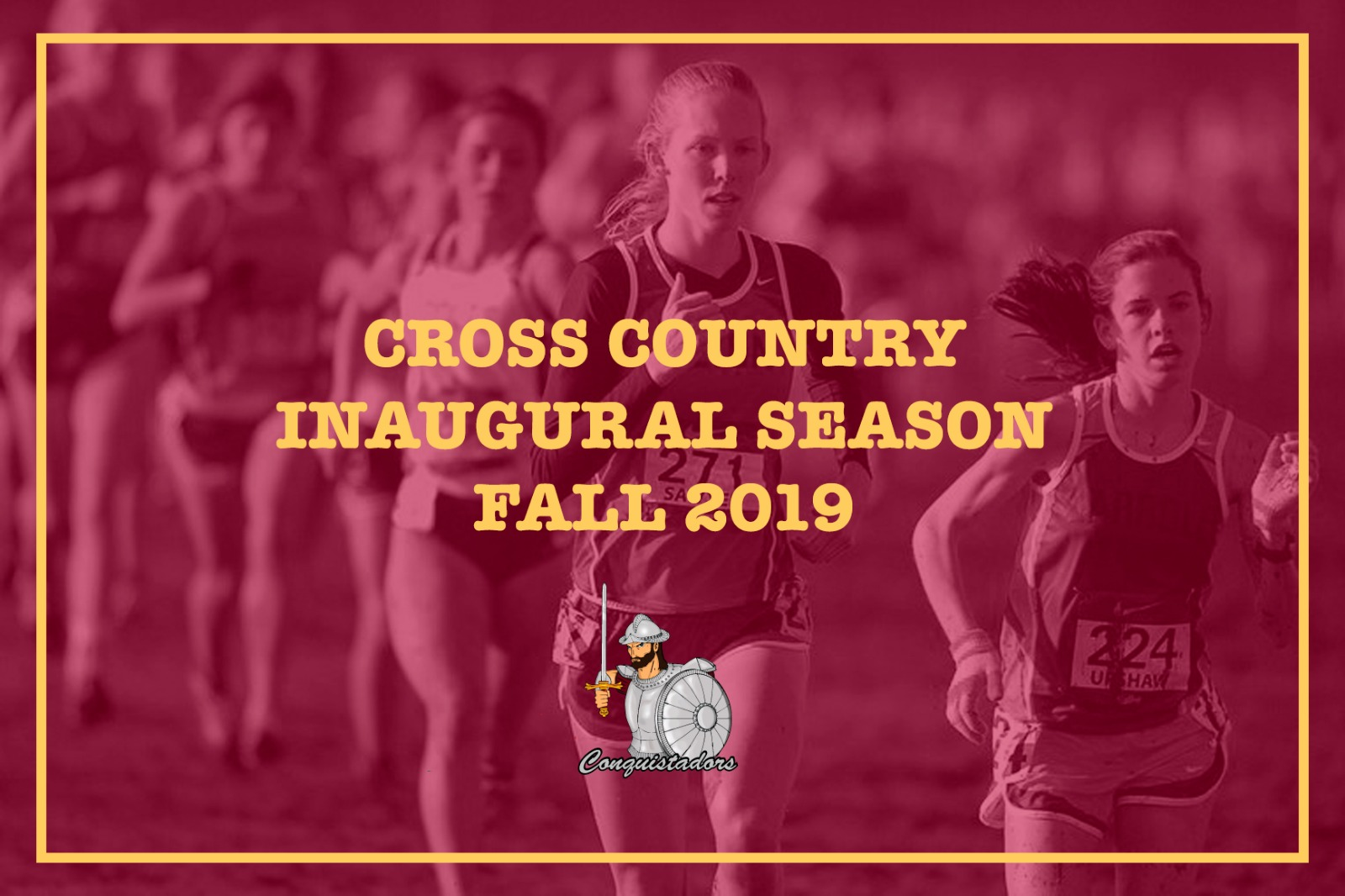 Women's Cross Country Picture saying Cross Country Inaugural