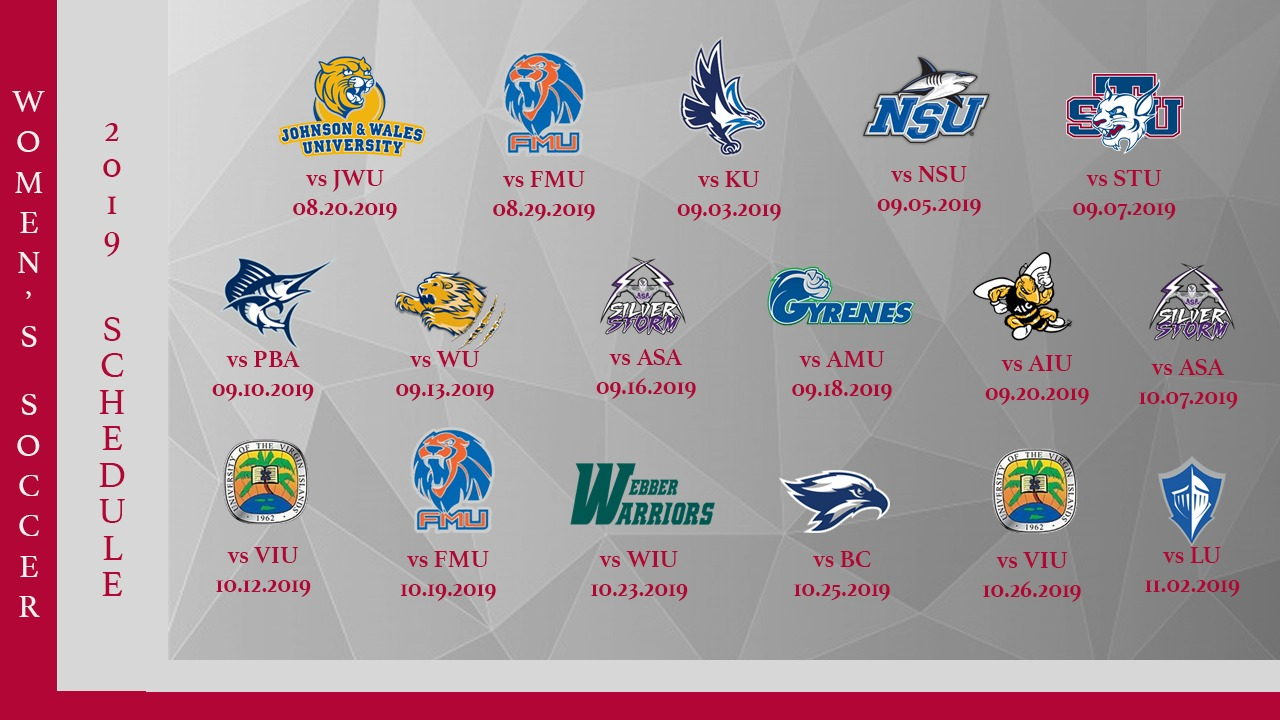 Women's soccer schedule released 2019