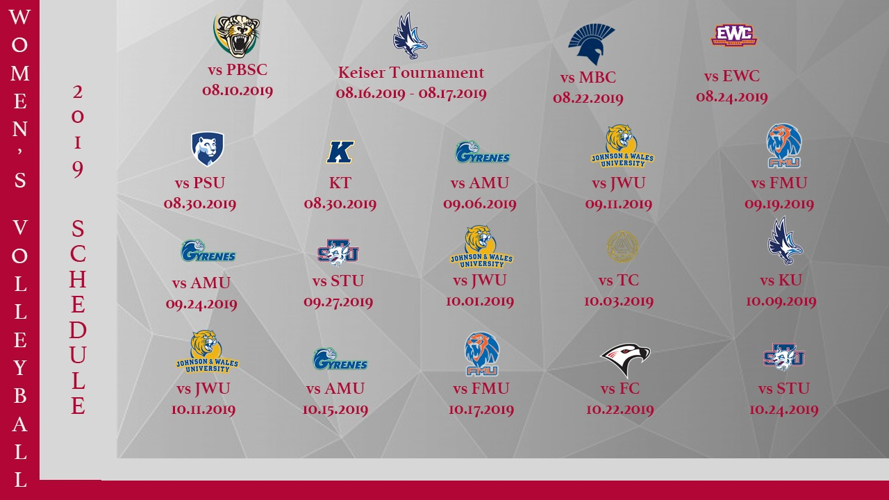 Women's Volleyball schedule released