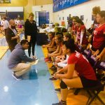 FNU Volleybal Coach Talking to the players during timeout
