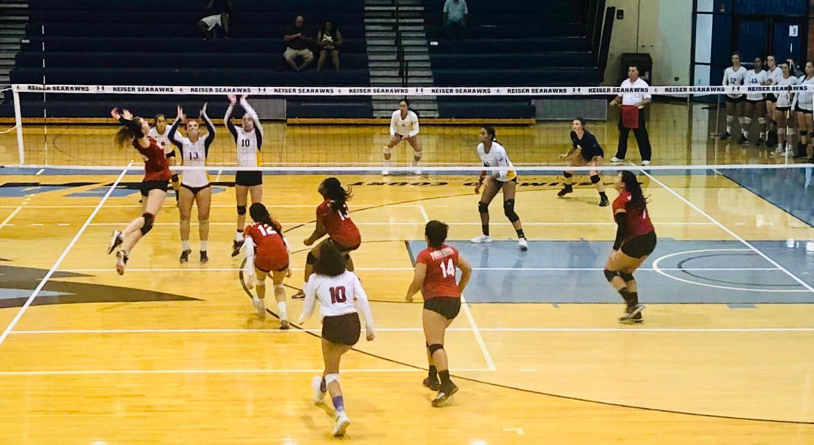 FNU Volleyball game Picture