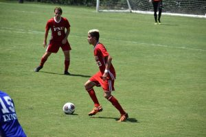 FNU Soccer player Dribbling the ball