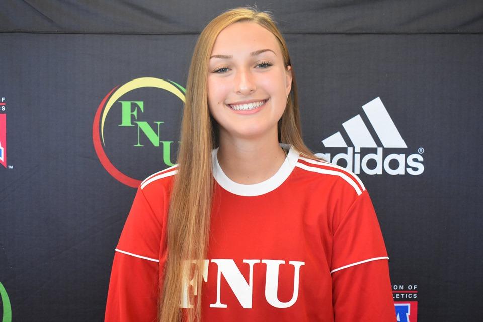 FNU Women's soccer player Casia Kennedy