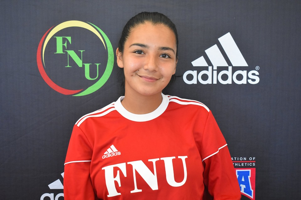 FNU Women's soccer player Evelyn Roque