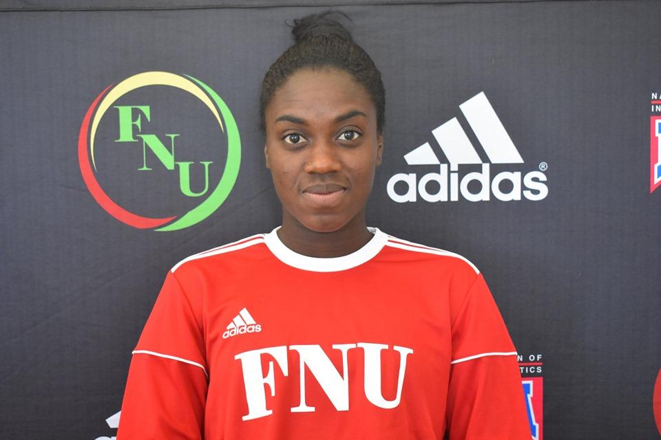FNU Women's soccer player Geovanna Alves