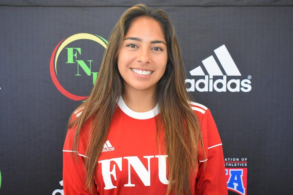 FNU Women's soccer player Mary Yanez