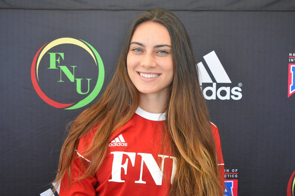 FNU Women's soccer player Iman Ali Dib