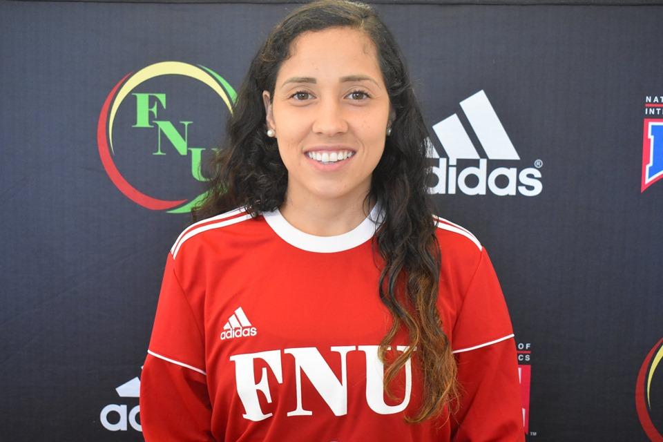 FNU Women's soccer player Juliana Oliveira