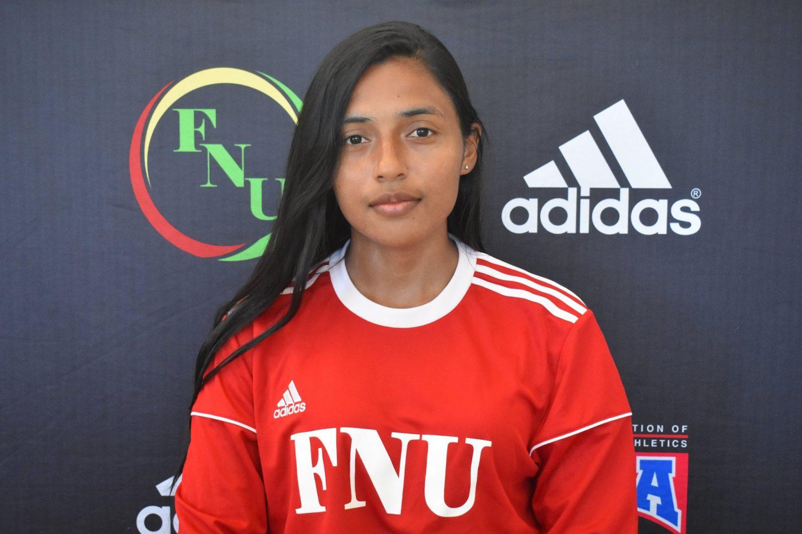 FNU Women's soccer player Juliana Romero