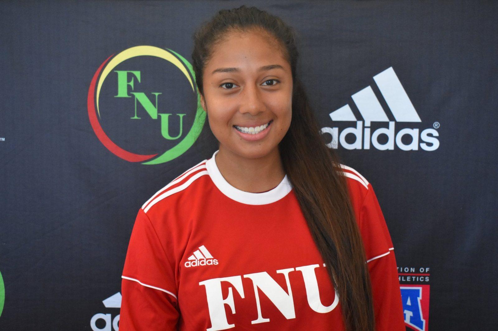 FNU Women's soccer player Mickaela Crespo