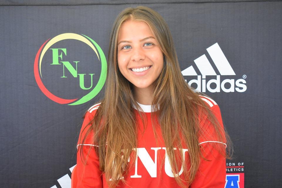 FNU Women's soccer player Noriann Gaviria
