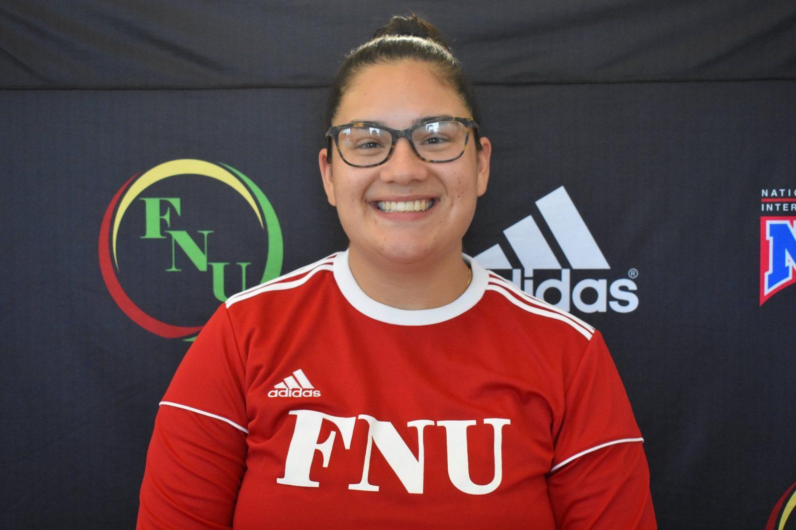 FNU Women's soccer player Rashelle Gomez