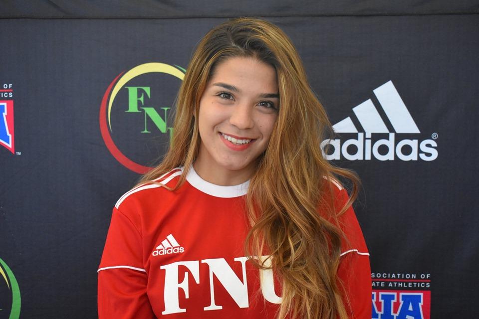 FNU Women's soccer player Sara Galindo
