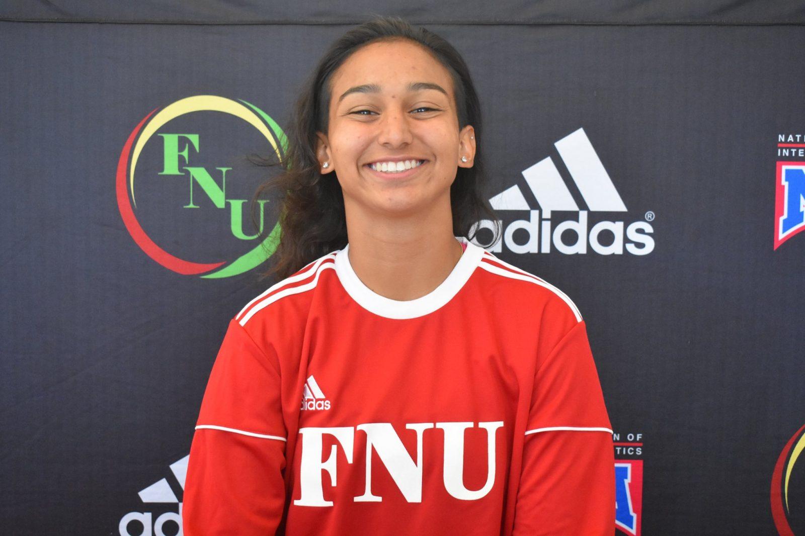 FNU Women's soccer player Selene Vazques