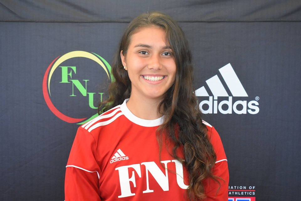 FNU Women's soccer player Sophia Souza