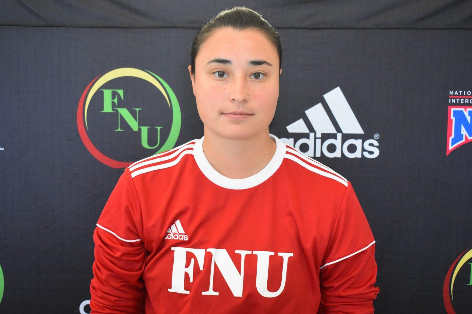 FNU Women's soccer player Vanesa Osorio