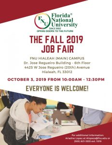 job fair flyer, info