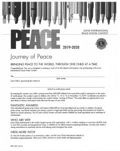 journey of peace contest rules
