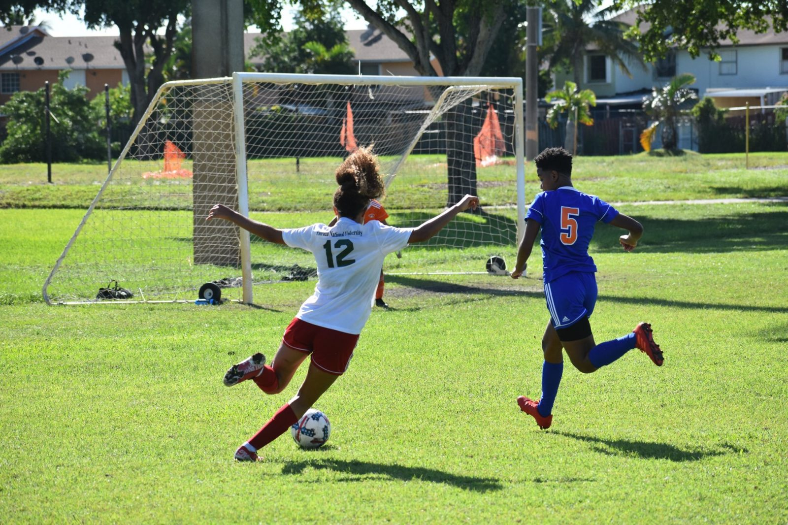 FNU Women's soccer player Dominique Mosley During the game - Copy