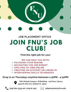 job placement office flyer
