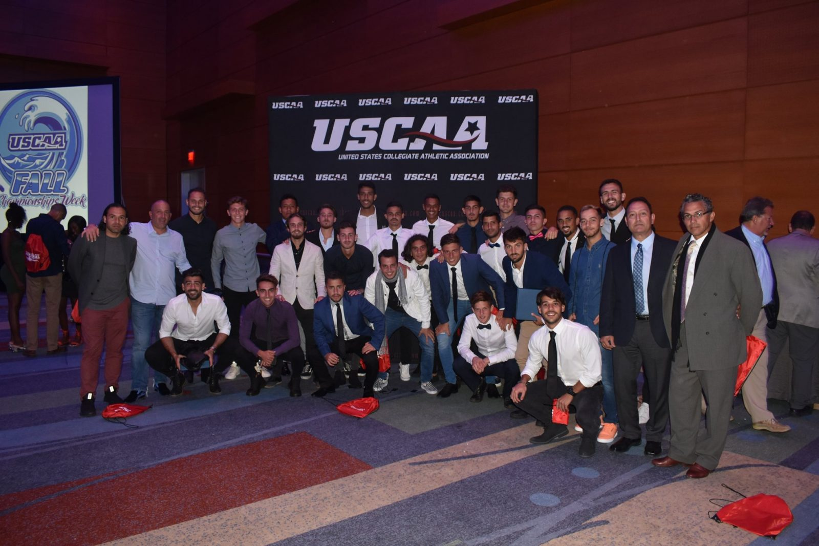 MEn's soccer at the USCAA Annual Banquet