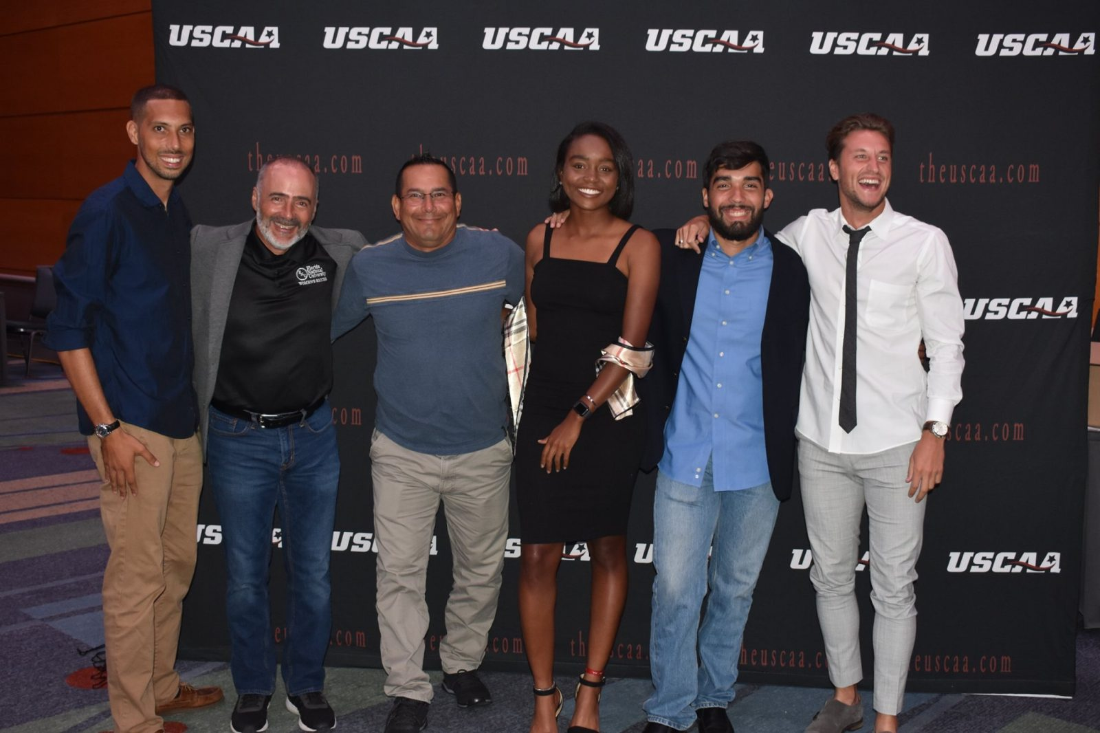 Women's Soccer attending the USCAA annual banquet