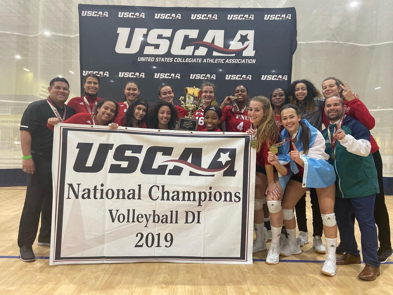 FNU Women's Volleyball team National Champions