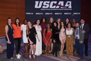 Women's Volleyball team at the USCAA Annual Banquet 2