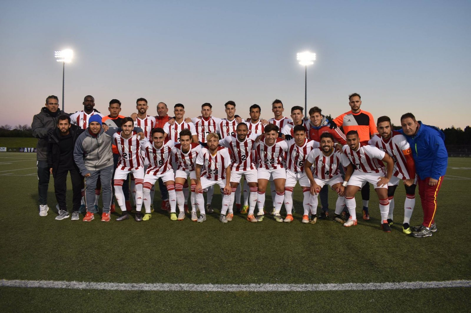 FNU Men's soccer team 2018