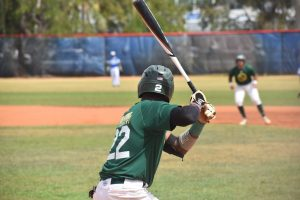 FNU Baseball player batting in the game