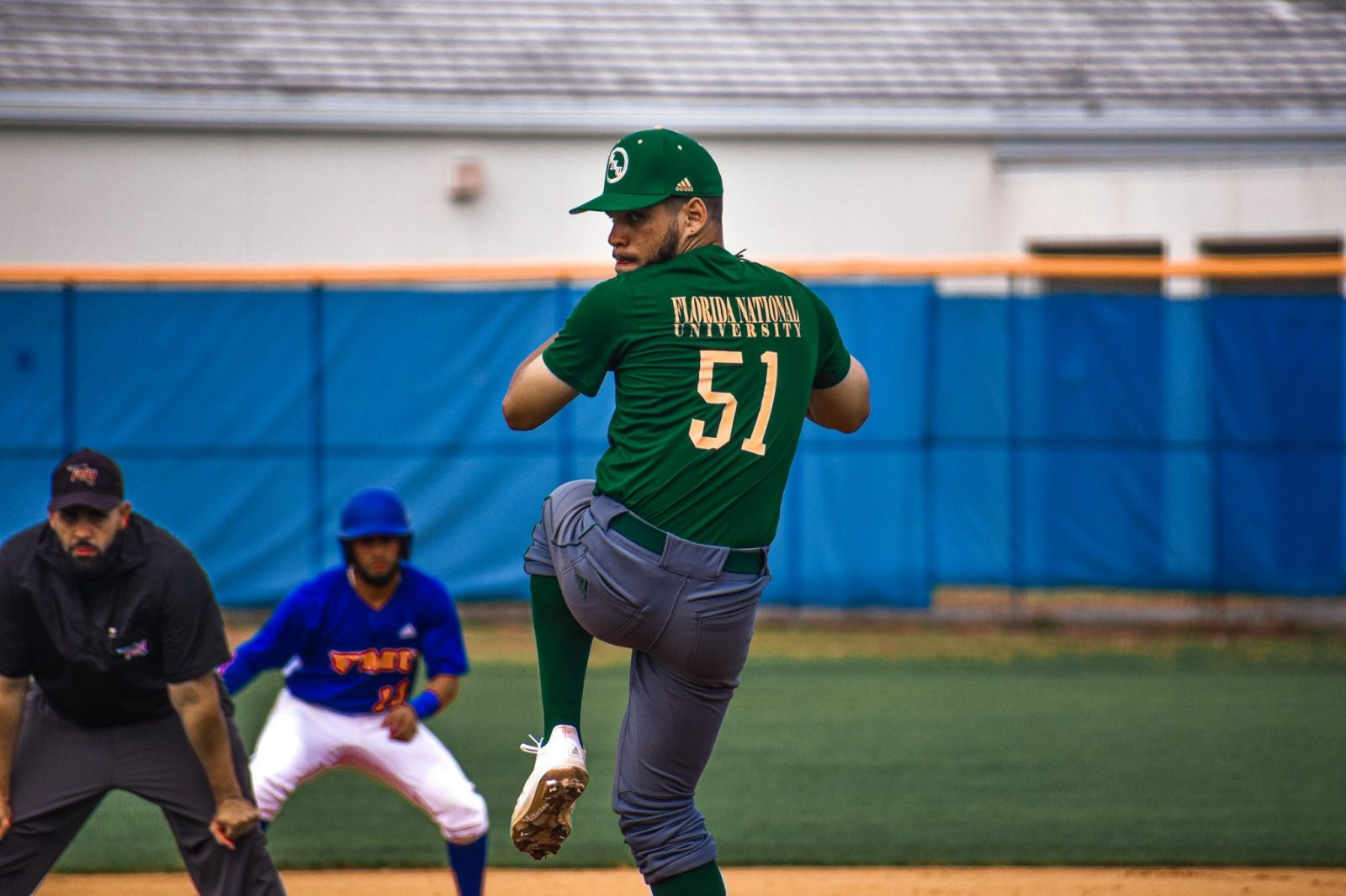 FNU Baseball player pitching during the game