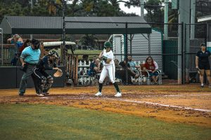 FNU Softball player in the game