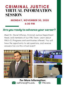 Join Dr. Alfonso on November 30 for a virtual information session