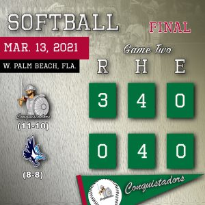 Softball results graphic - 3/13/21