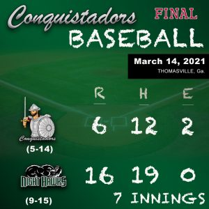 FNU Baseball Results Graphic - 3/14/21
