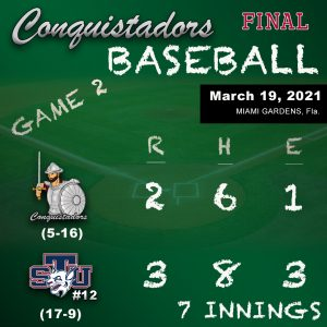 Baseball Results Graphic - 3/19/21