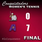 Women's Tennis Results Graphic - 3/20/21