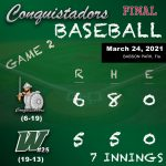 Baseball Results Graphic - 3/24/21