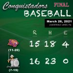 Baseball Results Graphic - 3/26/21