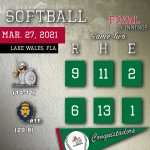 Softball Results Graphic - 3/27/21