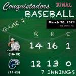 Baseball Results Graphic - 3/30/21