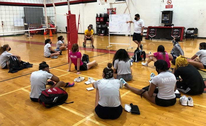 National Drug and Alcohol Facts Week with FNU volleyball team