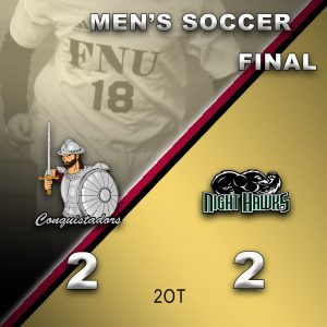 Men's Soccer Results Graphic - 4/3/21