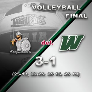 FNU volleyball results graphic - 4/9/21