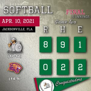 Softball Results Graphic - 4/10/21