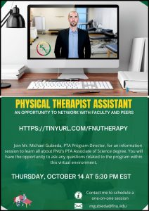 Physical Therapist Assistant Virtual Opportunity to network